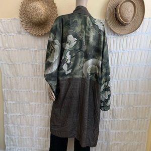 Vintage Dual Pattern Mythical Giant Kimono
